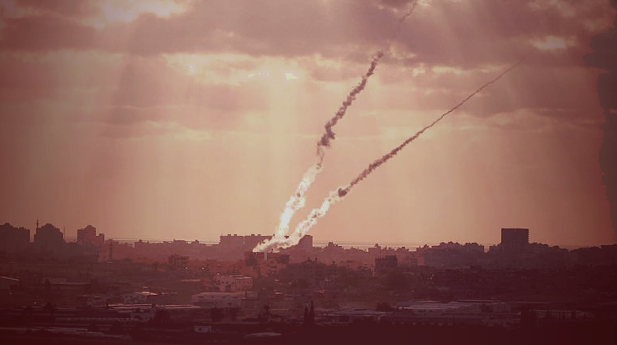 Archive photo of rockets fired out of Gaza at Israel. Credit: IDF Spokesman Unit